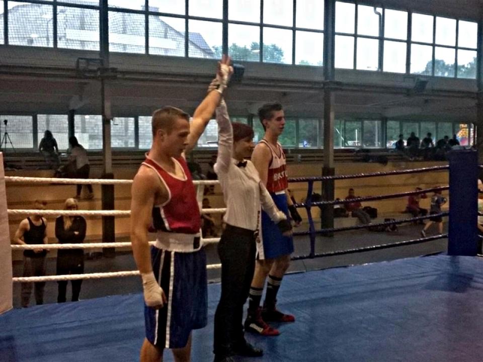 Sukces młodego boksera