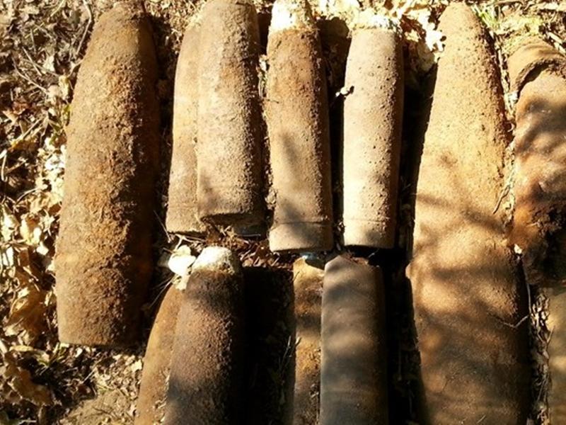 19 pocisków artyleryjskich w okolicach Ełku