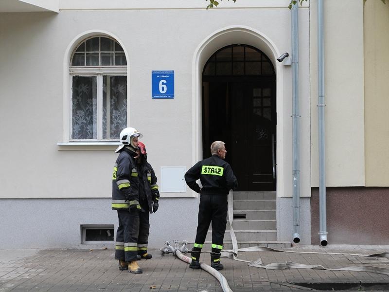 Pożar przy ulicy 3 Maja