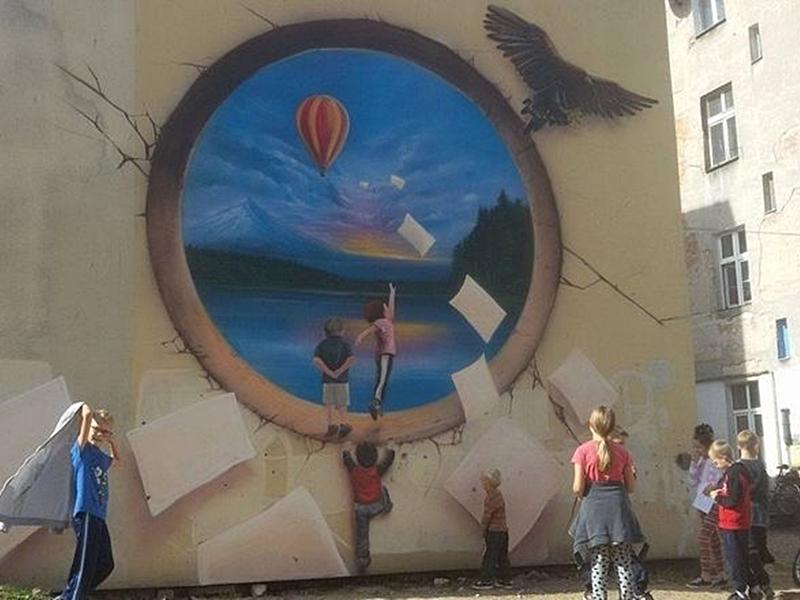 Mural powstał na ul.Orzeszkowej