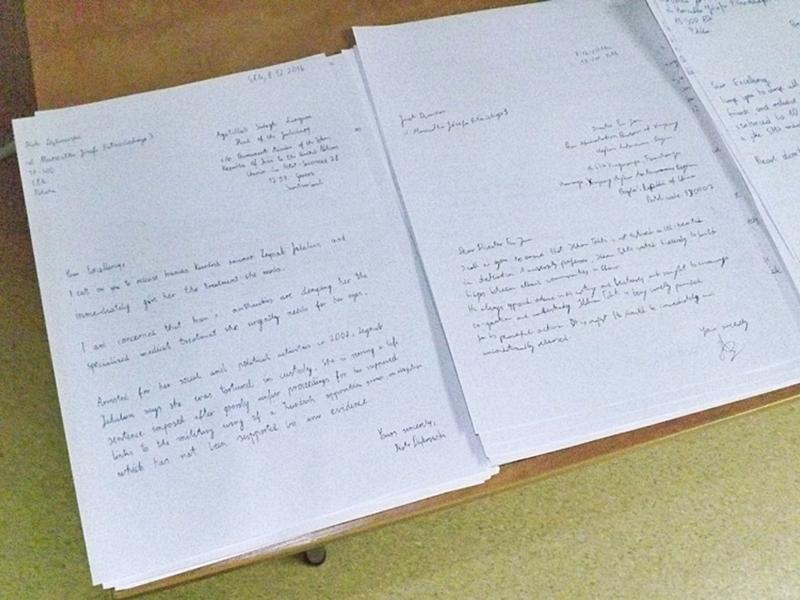 Uczniowie I LO piszą listy