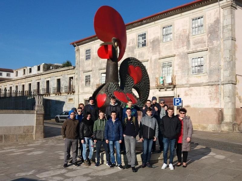"""Uczniowie """"Mechaniaka"""" w Portugalii"""