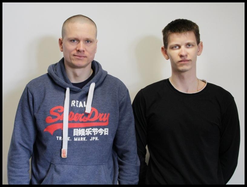 Sebastian Kosiorek i Sebastian Fiebrich z MOS Ełk