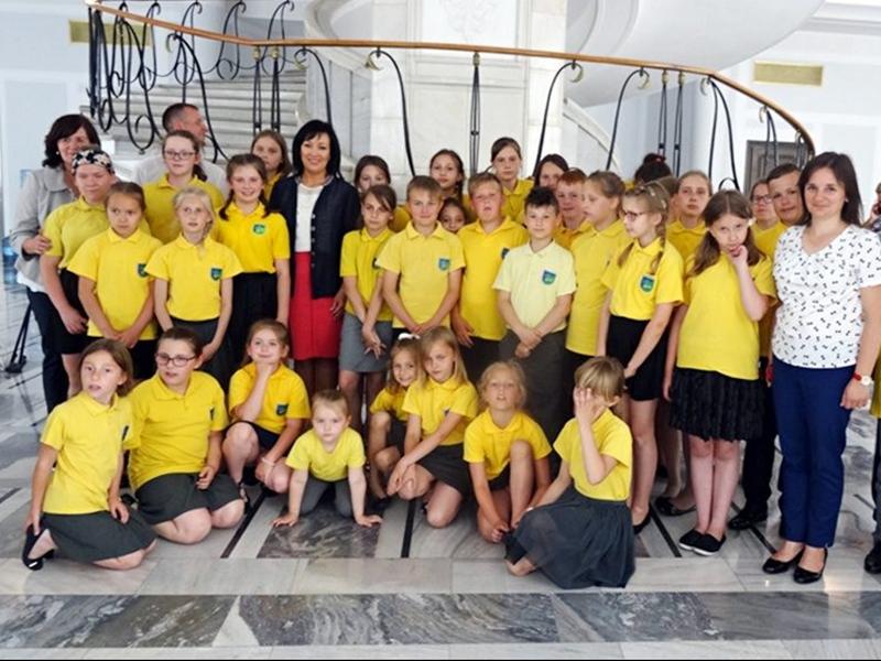 Uczniowie z wizytą w Sejmie i Senacie