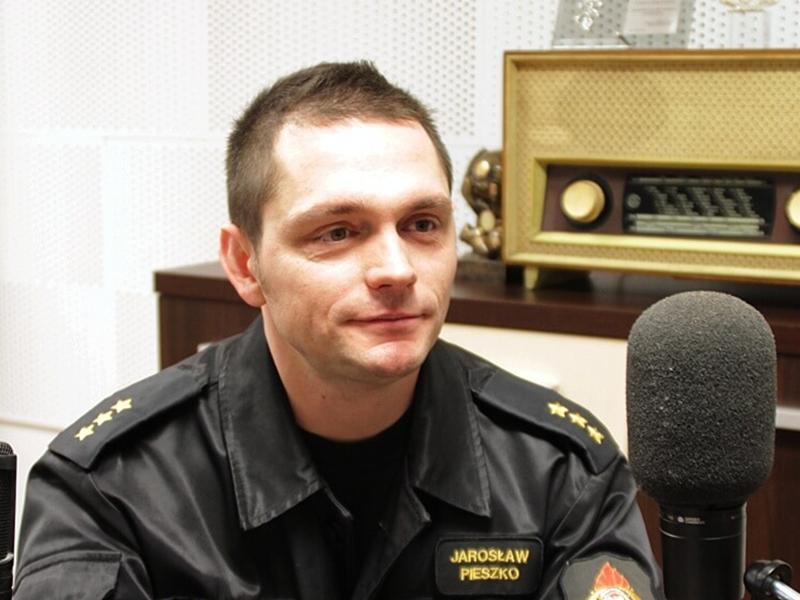 Jarosław Pieszko z PSP w Ełku