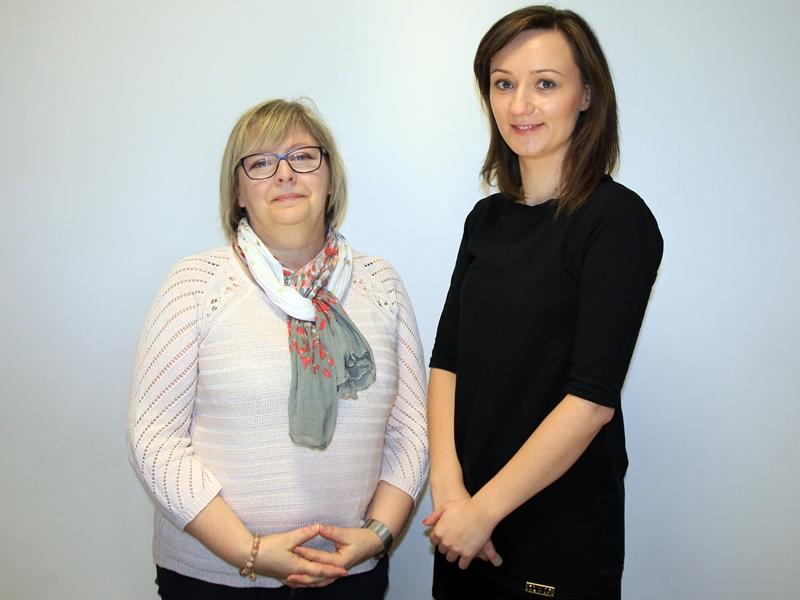 Lucyna Sobczak i Joanna Wojciechowska z SP 7 w Ełku