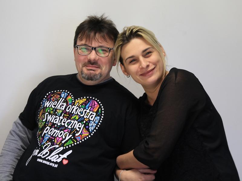 Piotr Wysocki i Sylwia Uzdowska