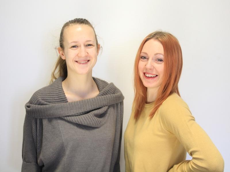 Monika Wielgat i Katharina Kochanowska