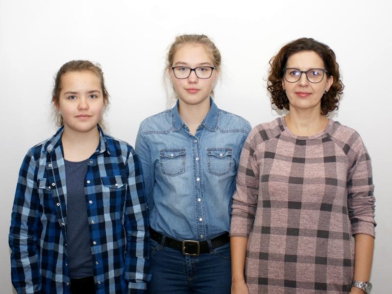 Przedstawicielki Szkoły Podstawowej nr 7 w Ełku