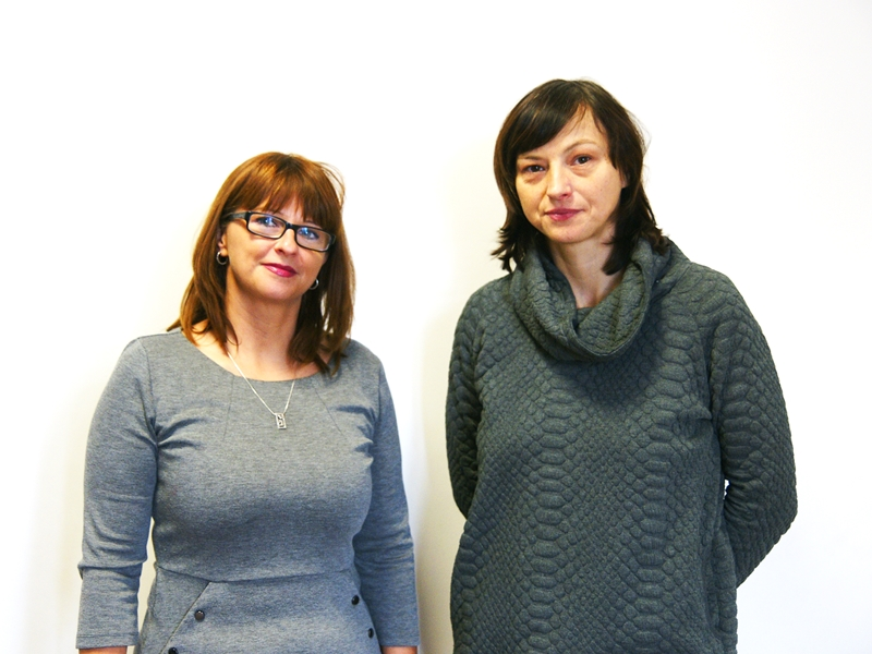 Patrycja Łapińska i Emilia Borawska