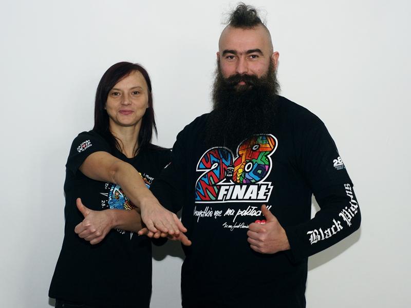 Emilia Borawska i Robert Szutkowski (WOŚP)