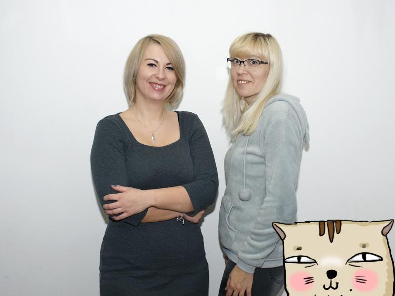 Magdalena Popielska i Ewa Brzezińska