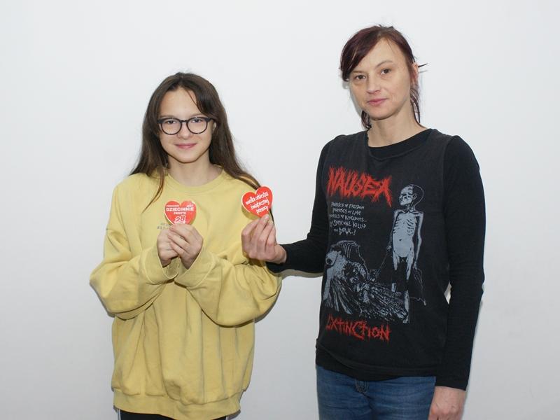 Maja i Emilia Borawskie - ełcki sztab WOŚP