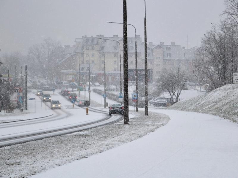 Spadł śnieg, ale nie na długo