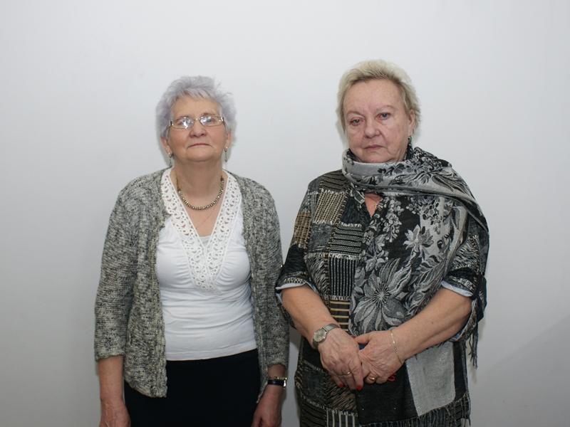 Krystyna Krysińska i Wiesława Strońska