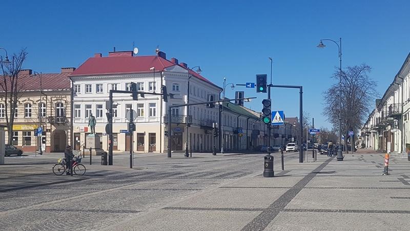 Opustoszałe ulice Suwałk