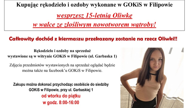 15-letnia Oliwka potrzebuje pomocy