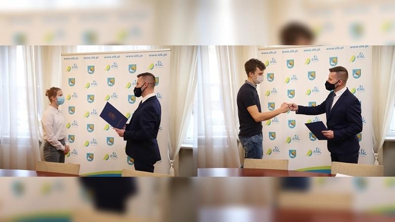 Natalia Kuczewska i Dawid Seroka z nagrodami sportowymi