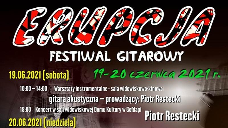 """Gołdapski Festiwal Gitarowy """"Erupcja 2021"""""""